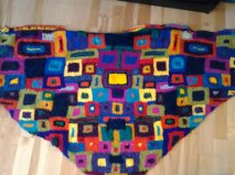 My shawl inspired by Kaffe Fassett