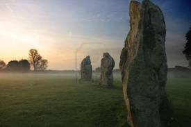 The standing stones of Avebury - without the unwashed masses